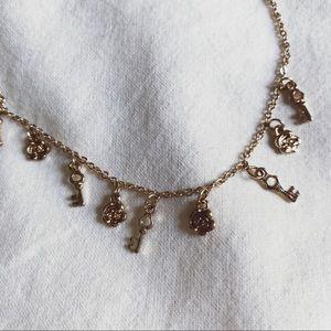 PacSun Jewelry - pacsun gold charm choker necklace